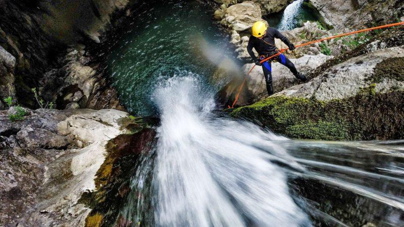 Comment se déroule une descente en canyoning ?